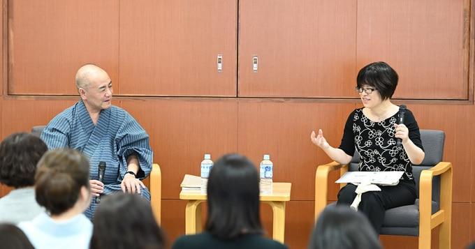 六代豊竹呂太夫さん×大島真寿美さんによる文楽『妹背山婦女庭訓』特別鑑賞会が国立劇場で開かれました。