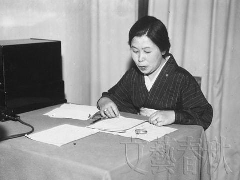 NHKラジオに初めて登場した時の村岡花子